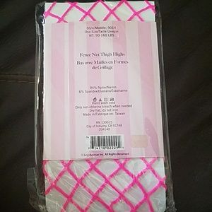62e5b5b67 Leg Avenue Accessories - Leg Avenue Fence Net Thigh Highs HOT Pink